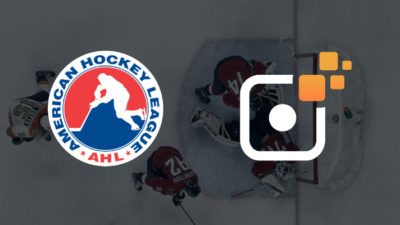 American Hockey League and Sporfie logos