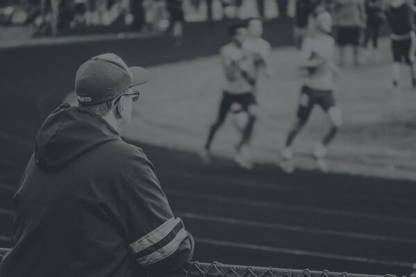 Man watching track meet